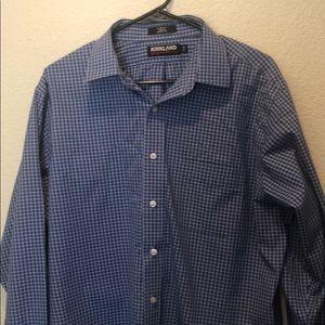 Kirkland signature slim fit button up shirt